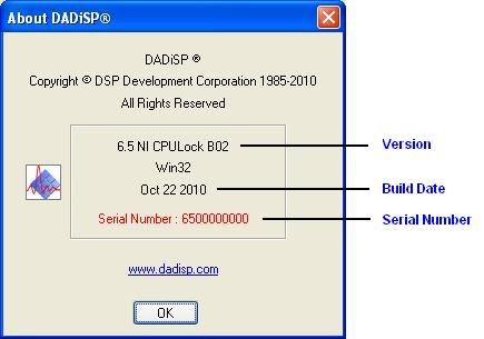 DADiSP Help About